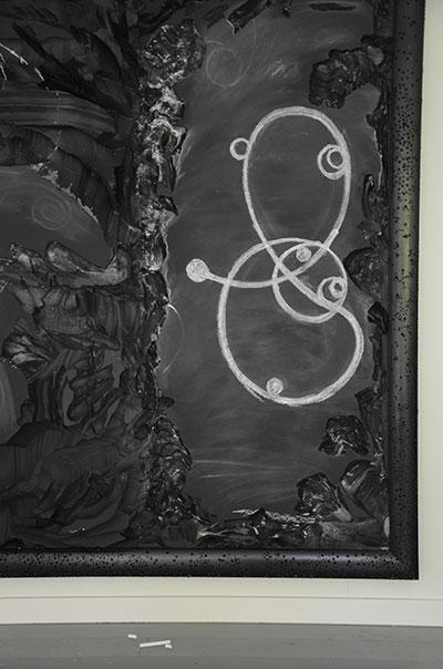 David Cheeseman, Ole Hagen & Roberto Trotta, 'Drawing on Non-Euclidean Blackboard I', 2015